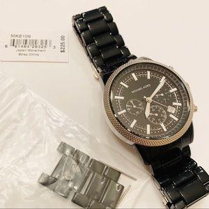 Michael Kors Black Silver Chronograph Watch